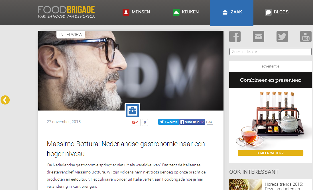 Foodbrigade - Interview Massimo Bottura