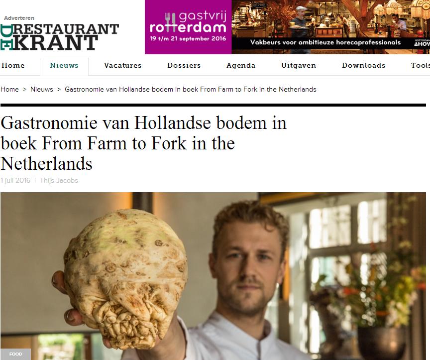 Restaurantkrant - Gastronomie van Hollandse Bodem